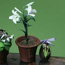 easter lily decoration
