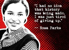 Daily Shot (12/01/2012) Rosa Parks To honour Ms. Rosa Parks for this day, 57 years ago, when she stood up for her civil rights, and became a symbol of strength for so many.