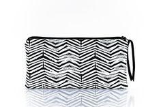 Pencil case black white Small pouch Graphic pattern by StudioAndCo