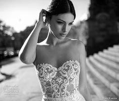 gali karten 2017 bridal long sleeves strapless sweetheart neckline full embellishment elegant sexy sheath wedding dress short train (8) zv -- Gali Karten 2017 Wedding Dresses