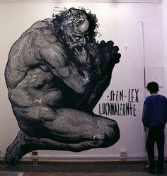 Street art by Sten & Lex