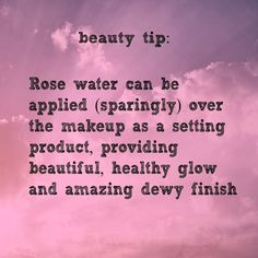 Rose water can be applied over the makeup as a setting product - providing a beautiful, healthy glow and amazing dewy finish http://www.youniqueproducts.com/AlyMichelle