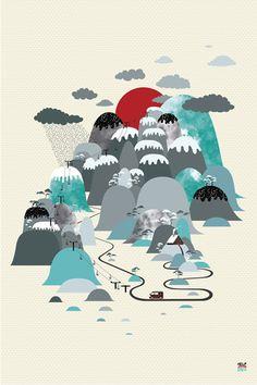 Japan -  Art by Ivan Sharko