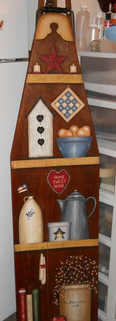The Decorative Painting Store: All Things Prim Still Life Ironing Board Pattern, Ironing Board Designs - Small & Large Painted Ironing Board, Antique Ironing Boards, Wood Ironing Boards, Painted Boards, Painted Rocks, Primitive Furniture, Primitive Crafts, Wood Crafts, Primitive Décor