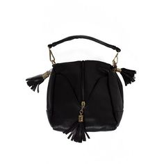 Bag with tassels Trendy handbag with tassels. Bag zippered https://www.cosmopolitus.com/peaenkumodel750245black-p-129691.html?language=en&pID=129691 #handbag #style #boho #fringe #trend #fashionable #casual #black