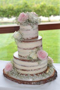 Naked Cake, Hochzeitstorte, Torte, 3 stöckige Torte, 3 stöckige Hochzeitstorte