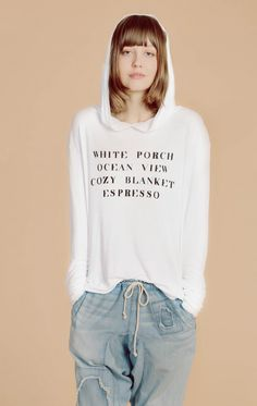 d72d8279448 The Wildfox Hampton House Gypsy Pullover Hoodie Sweatshirt White Porch