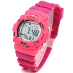 Chronograph Alarm BackLight Water Resistant Girls Pink Color Digital Watch DW209F