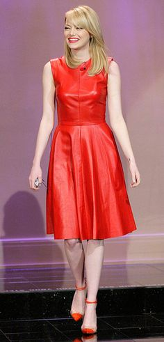 Emma Stone goes red!