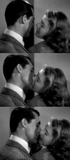 Kissing between Alicia Huberman and Mr. Devlin in Notorious 1946 when long kisses weren't allowed.