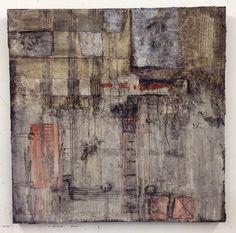 Aggregat - Mixed Media on board, 94 x 94 cm | by Ellen Ribbe