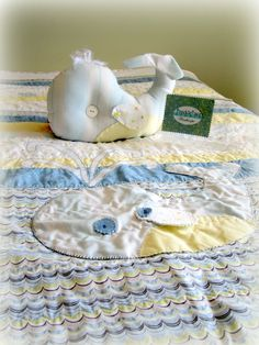 Baby Quilt Winthrope the Whale Nursery by FreckleFaceStudioShp