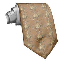 Mens Western Necktie Vintage Cowgirl