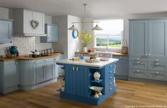 Academy Midsomer Traditional Country Kitchen in Blue Variations