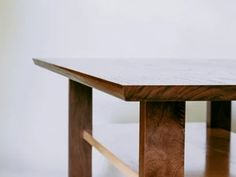The Classic Coffee Table - Walnut with Tiger Maple - Modern Wood Table – Mokuzai Furniture Solid Wood Furniture, Fine Furniture, Living Room Furniture, Furniture Design, Japanese Home Design, Japanese House, Walnut Coffee Table, Wood Source, Wood Table