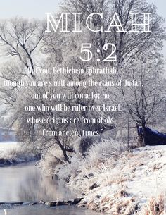 Advent Day 4! Micah 5:2