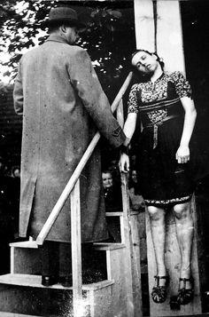 """zentropista: """" Public Execution of a Nazi Collaborator. """""""