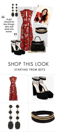 """Lucy in Red"" by lucymitford ❤ liked on Polyvore featuring Oris, Burberry, GALA, Jimmy Choo, Melissa Joy Manning, Vita Fede and Dolce&Gabbana"
