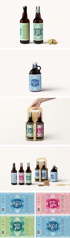 High Water Brewing (Student Project) packaging by Bella Huang
