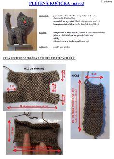 kočka | Návody na háčkované hračky Montessori Baby, Toys, Crochet, Activity Toys, Toy, Chrochet, Crocheting, Knits, Hand Crochet