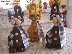 Lindos gatitos de tela, patrón gratis   PatronesMil