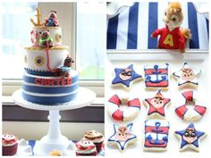 Alvin & the Chipmunks Birthday Party. Styled by LOVEinc Dessert Styling 2nd Birthday Parties, 4th Birthday, Birthday Ideas, Alvin And The Chipmunks, Little Pigs, Holidays And Events, Party Ideas, Holiday Decor, Cake
