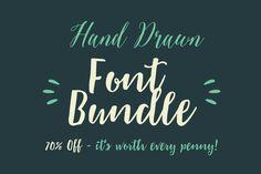 Hand Drawn Font Bundle (70% Off) by typezilla on Creative Market