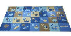 30*30*1.4cm Soft Foam EVA Floor Mat Jigsaw Tiles 26 Alphabets + 2 Free Mats Kids Puzzle Play Mats (Style 1)