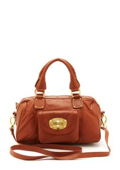 Micheal Rome  Leather turn-lock satchel