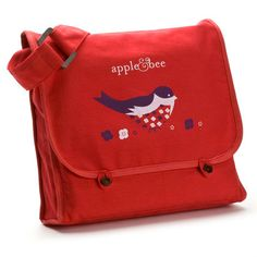 Adorable child's satchel from apple + bee - great backpack alternative. and reversible!