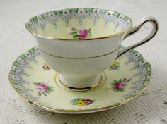 Royal Albert Torquay Tea Cup and Saucer Crown China