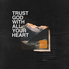 Trust in the Lord with all your heart and lean not on your own understanding; In all your ways acknowledge Him, And He shall direct your… Church Graphic Design, Church Design, Graphic Design Posters, Graphic Design Typography, Graphic Design Illustration, Graphic Design Inspiration, Layout Design, Print Design, Creative Posters