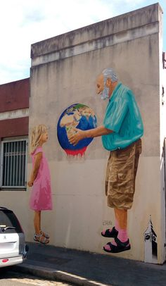 Big Ben street art rue Guignard, Lyon Source by Street Art Banksy, Murals Street Art, 3d Street Art, Street Art London, Urban Street Art, Amazing Street Art, Mural Art, Street Artists, Amazing Art