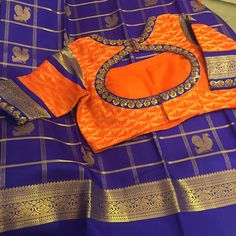 Pattu Saree Blouse Designs, Simple Blouse Designs, Bridal Blouse Designs, Blouse Neck Designs, Blouse Styles, Maggam Work Designs, Designer Blouse Patterns, Blouse Models, Work Blouse