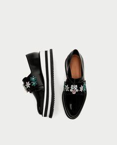 4f936af3f5e BLUCHER PLATAFORMA ABALORIOS Zapatos Zara Mujer 2017