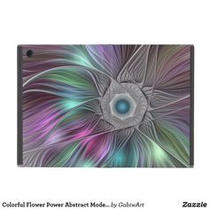 Colorful Flower Power Abstract Modern Fractal Art iPad Mini Cover
