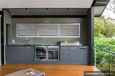 A stunning alfresco kitchen from Enigma Interiors.