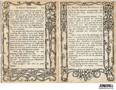 VICTORIAN TEXT Digital Printable Collage Sheet Aged by JUNKMILL