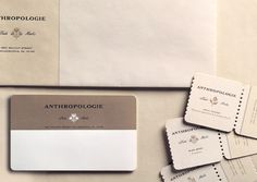 Anthropologie Business PapersAn understated color palette maintains a certain level of sophistication throughout paper ephemera created for the store.