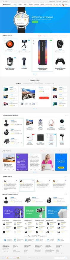 Media Market is clean and modern design PSD template for electronics and gadgets store #eCommerce #website with 58 layered PSD pages download now..