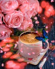 Good Morning Coffee Gif, Good Morning Beautiful Flowers, Good Morning Images Flowers, Good Morning Roses, Good Morning Cards, Beautiful Flowers Images, Cute Good Morning, Beautiful Flowers Wallpapers, Good Morning Greetings