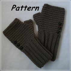 R0SEDEW on Etsy: Simple Ribbed Fingerless Mitts