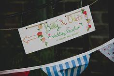 Water Colour Wedding Sign http://www.blissfulwedding.co.uk/