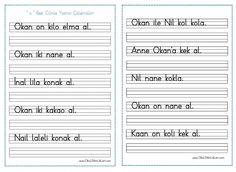''o '' Sesi Cümle Yazma Çalışmaları - Seyit Ahmet Uzun – Eğitime Yeni Bir Bakış Special Education, Sheet Music, Preschool, Activities, Google, Music Score, Nursery Rhymes, Music Notes, Kindergarten