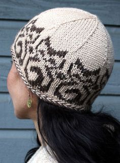 Temple Cats Hat Pattern - Knitting Patterns and Crochet Patterns from KnitPicks.com
