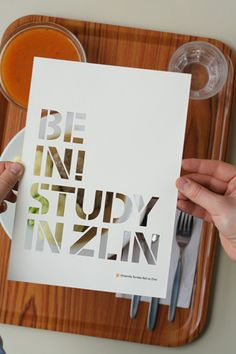 """""""Be in study in Zlin"""" poster by Ozef Ondrik"""