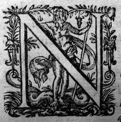 Woodcut initial cap, printed by Laurent Sonnius, Paris, early 17th c.