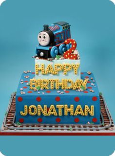 Even simpler thomas the train cake Thomas Birthday Parties, Thomas The Train Birthday Party, Trains Birthday Party, Train Party, Birthday Cake, Birthday Ideas, Thomas Cakes, Friends Cake, Confetti Cake