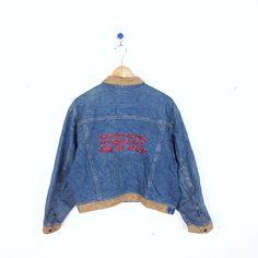 Vintage United Colors Of Benetton Jacket Type De Nime Denim Jeans Size 46 RARE #Benetton