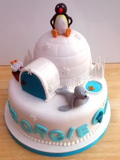 Pingu And Friends Novelty Birthday Cake | Susie's Cakes